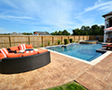 Geometric Gunite Swimming Pool With Spa | North Little Rock