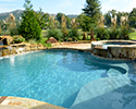 Freeform Custom Swimming Pool With Spa | Little Rock