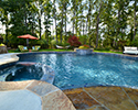 Freeform Swimming Pool With Spa & Tanning Ledge | Maumelle