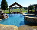 Custom Swimming Pool With Waterfall & Spa | Benton