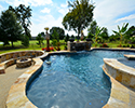 Freeform Swimming Pool With Spa | Conway Arkansas