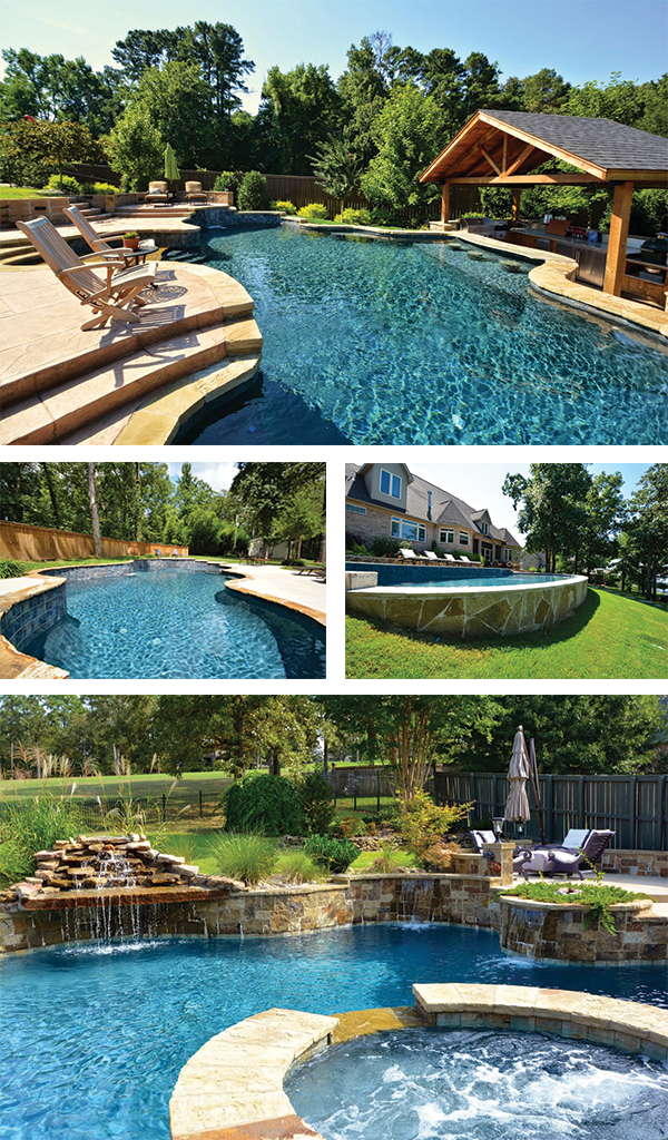 Swimming Pool Construction Amid Yard Slopes