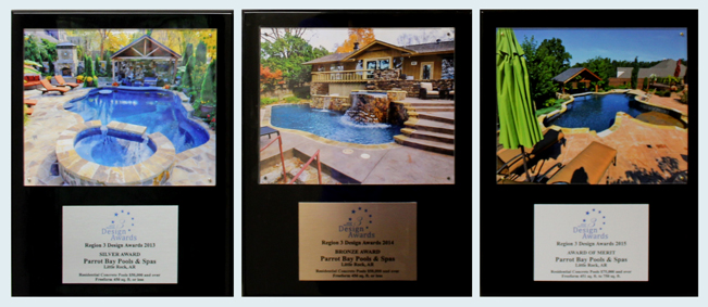 award winning pool design arkansas