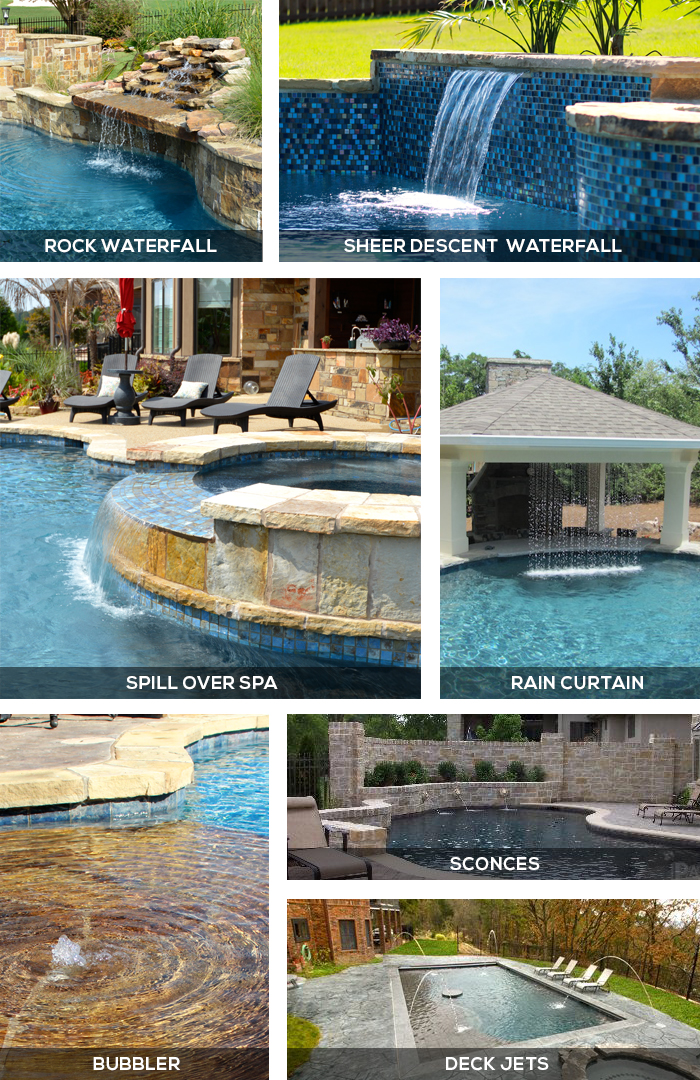 Different Types Of Water Features For In Ground Swimming Pools